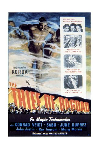The Thief of Bagdad - Movie Poster Reproduction Premium Giclee Print