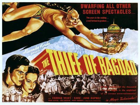 The Thief of Bagdad, Rex Ingram, John Justin, June Duprez, 1940 Photo