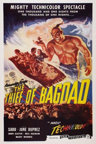 The Thief of Bagdad, Top from Left: Sabu, John Justin, June Duprez, Rex Ingram, 1940 Art Print