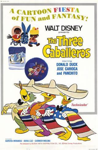The Three Caballeros Masterprint