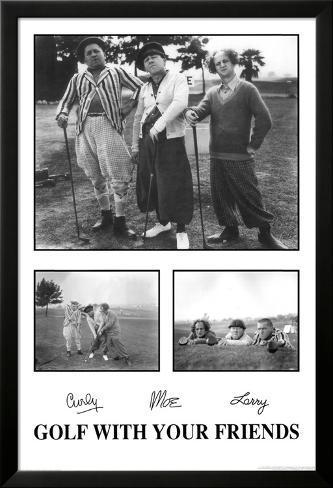 The Three Stooges Póster enmarcado con plástico protector