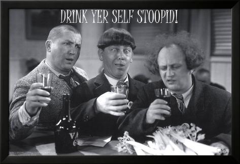 The Three Stooges Lamina Framed Poster