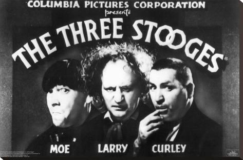 The Three Stooges Reproducción de lámina sobre lienzo