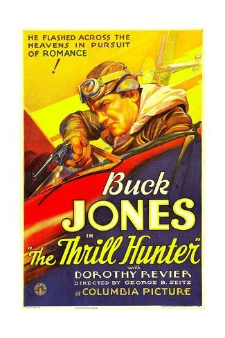 THE THRILL HUNTER, Buck Jones, 1933. Stretched Canvas Print