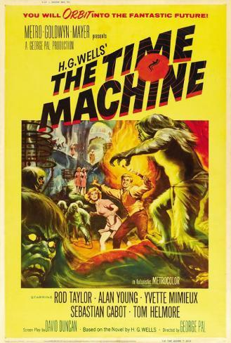 The Time Machine - French Style Poster