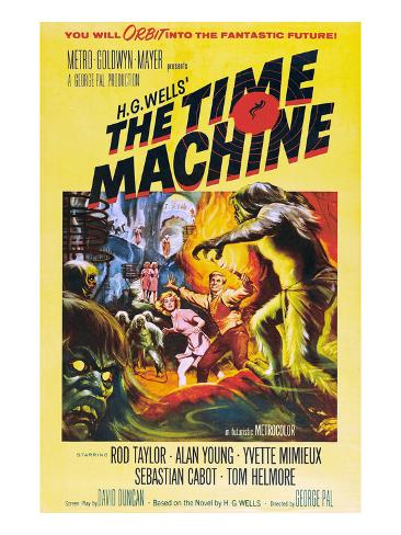 The Time Machine, From Left Center: Yvette Mimieux, Rod Taylor, 1960 Photo