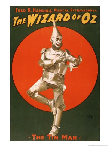The Tin Man from The Wizard of Oz Art Print