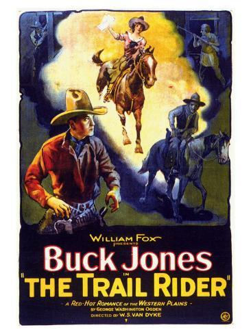 The Trail Rider, 1925 Art Print