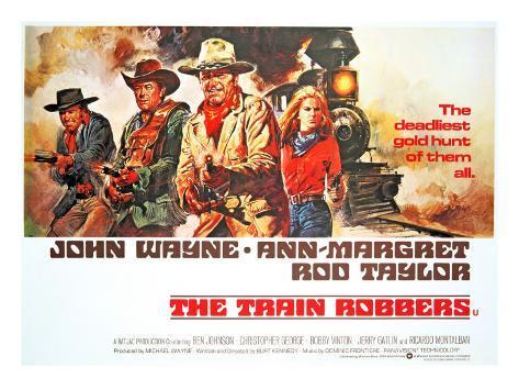 The Train Robbers, Rod Taylor, Ben Johnson, John Wayne, Ann-Margret, 1973 Photo