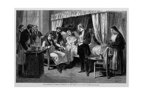 The Transfusion of Blood-An Operation at the Hospital De La Pitie, at Paris. Giclee Print