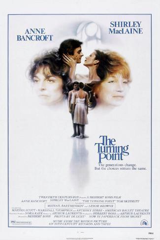 The Turning Point, Anne Bancroft, Mikhail Baryshnikov, Leslie Browne, Shirley Maclaine, 1977 Art Print