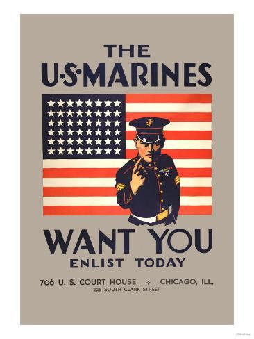 The U.S. Marines Want You Art Print