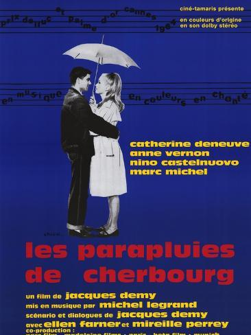 The Umbrellas of Cherbourg, French Movie Poster, 1964 Art Print