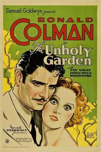 THE UNHOLY GARDEN, from left: Ronald Colman, Fay Wray, 1931. Stampa artistica
