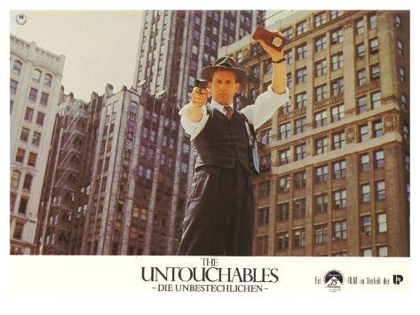 The Untouchables, German Movie Poster, 1987 Stretched Canvas Print