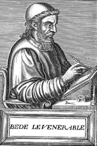 The Venerable Bede (C673-73), Anglo-Saxon Theologian, Scholar and Historian, C1584 Lámina giclée