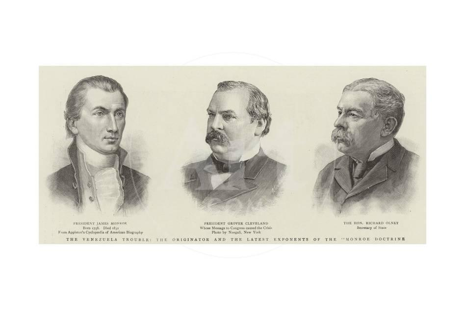 The Venezuela Trouble, the Originator and the Latest Exponents of the  Monroe Doctrine