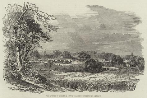 The Village of Schestedt, on the Road from Schleswig to Osterade Giclee Print