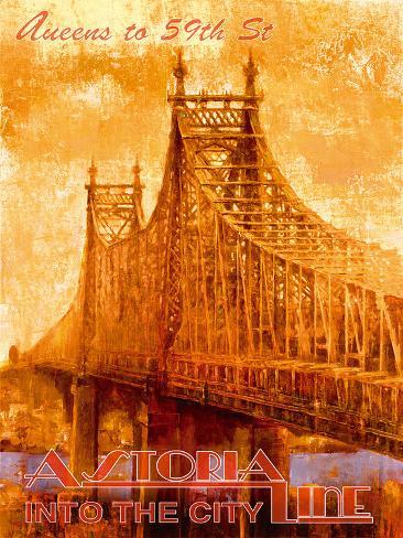 Astoria Line Giclee Print