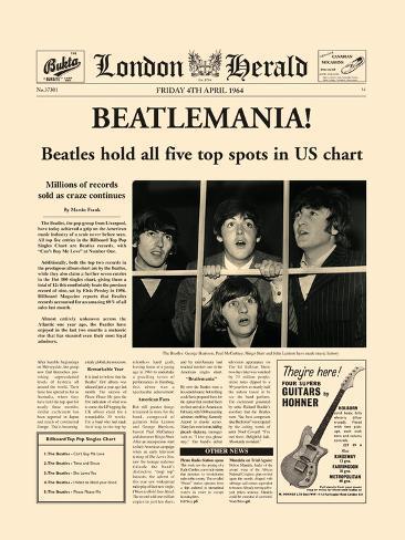 Beatlemania! Art Print