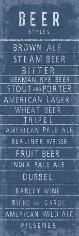 Beer Styles Giclee Print
