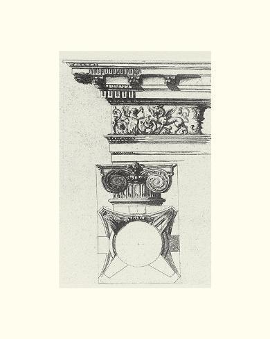 English Architectural III Art Print