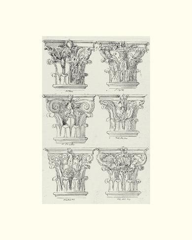 English Architectural VI Art Print