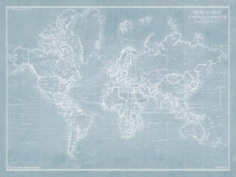 Explorer - World Map Giclee Print