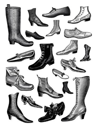 Fashionable Footwear Giclee Print