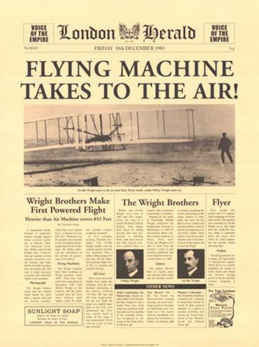 Flying Machine Takes to The Air Art Print
