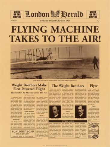 Flying Machine Takes to the Air! Art Print