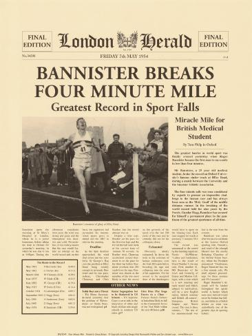 Four Minute Mile Art Print
