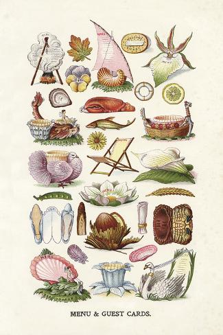 Vintage Menu Cards Giclée-vedos