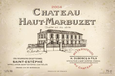 Wine Label I Giclée-vedos