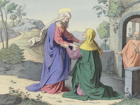 The Visitation of St Elizabeth Lámina giclée