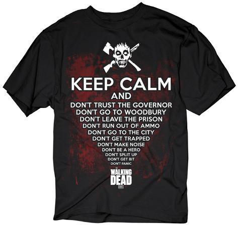 The Walking Dead- Keep Calm Zombie T-Shirt
