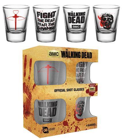 The Walking Dead Symbols Shot Glass Set Novelty