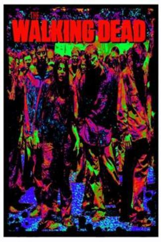 The Walking Dead Zombies Blacklight Poster Blacklight Poster