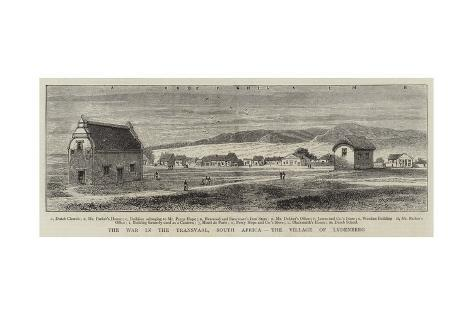 The War in the Transvaal, South Africa, the Village of Lydenberg Giclee Print