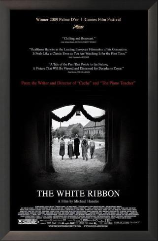 The White Ribbon Framed Art Print