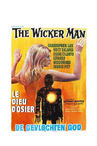The Wicker Man, (aka Le Dieu D'osier), Belgian poster, 1973 Art Print