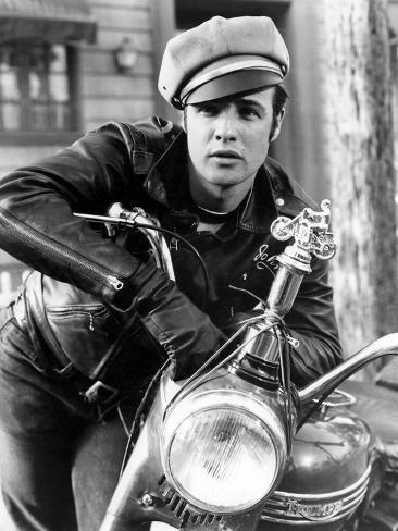 The Wild One, Marlon Brando, 1954, Leather Jacket Photo