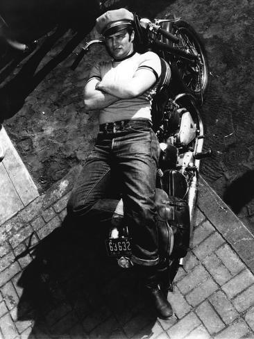 The Wild One, Marlon Brando, Directed by Laszlo Benedek, 1953 Photo