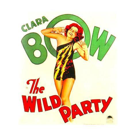 THE WILD PARTY, Clara Bow on window card, 1929. Lámina