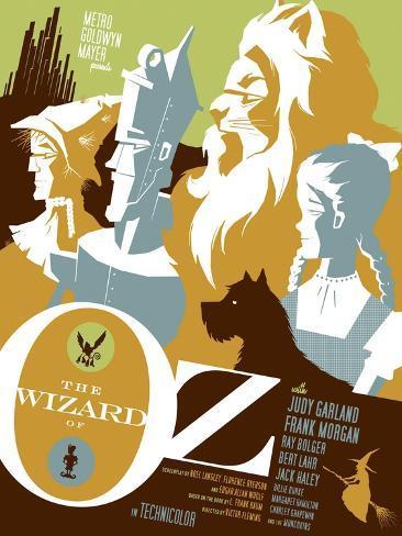 The Wizard of Oz, 1939 Impressão artística