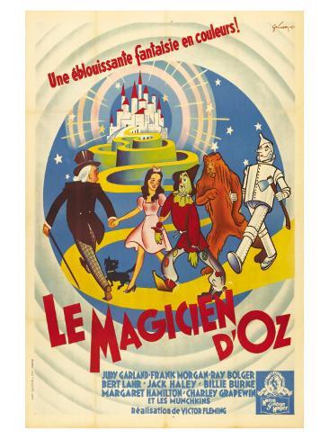The Wizard of Oz, French Movie Poster, 1939 Art Print
