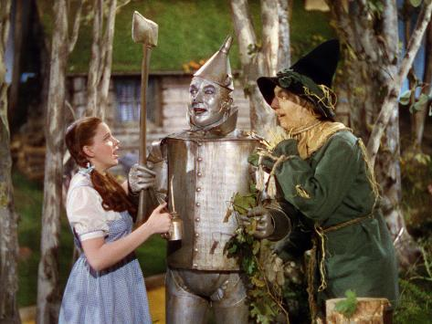 The Wizard of Oz, from Left: Judy Garland, Jack Haley, Ray Bolger, 1939 Photo