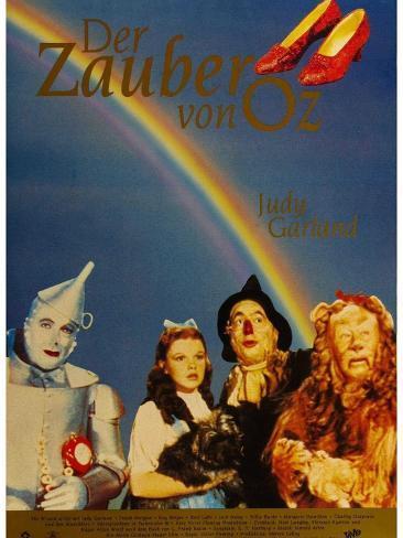 The Wizard of Oz, German Movie Poster, 1939 Art Print