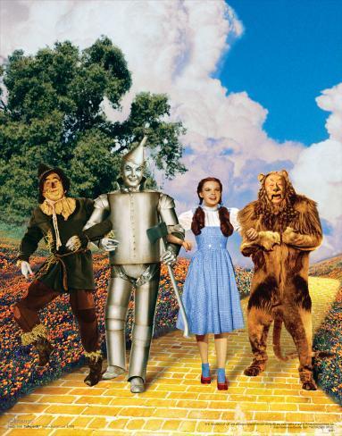 The Wizard of Oz: Glitter Yellow Brick Road Art Print