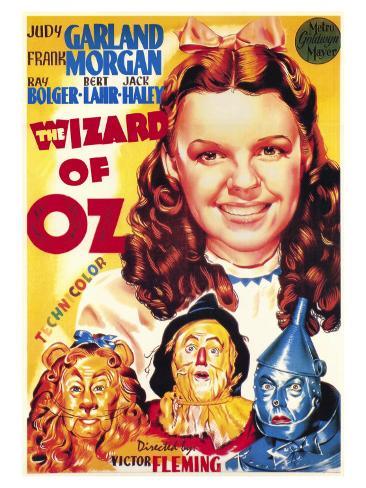 The Wizard of Oz, Italian Movie Poster, 1939 Art Print